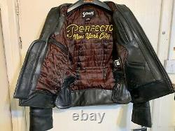 Vintage Schott Nyc Heavy Leather Perfecto Motorcycle Jacket Size M