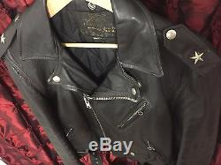 Vintage Schott One Star Perfecto Leather Motorcycle Jacket 613, 618, 626