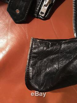 Vintage Schott Perfecto Black Leather Motorcycle Jacket size 38 Punker Biker