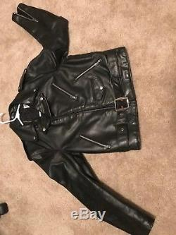Vintage Schott Perfecto Leather Biker Jacket SZ 40 Fits like a M