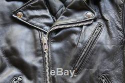 Vintage Schott Perfecto Leather Motorcycle Jacket Coat Size 38 Made in USA