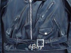 Vintage Schott Perfecto Leather Motorcycle Jacket Size 42 Made in USA Moto Coat