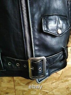 Vintage Schott Perfecto Men's (42) Medium Leather Jacket Black Motorcycle