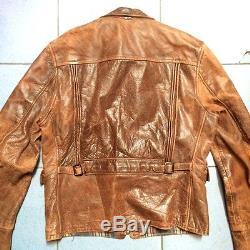 Vintage Sport Horsehide Jacket Mens Leather Motorcycle Jacket Genuine 1950s