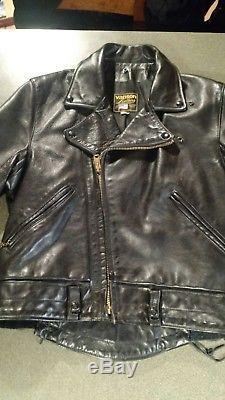 Vintage VANSON C. H. P. Black Leather Jacket (Size 42)