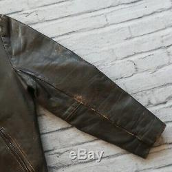 Vintage Vanson Leather Cafe Racer Motorcycle Jacket 46 XL L Biker Made in USA