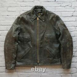 Vintage Vanson Leather Motorcycle Jacket Size 42 Made in USA Brown