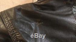 Vintage WILSONS Womens Black Crop 80's Biker Rock Leather Moto Jacket sz S Sm