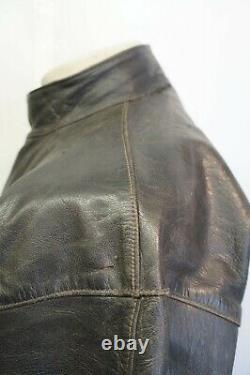 Vintage Ww2 Oljon Skinnvaror Malung Swedish Leather Tanker Jacket Size 52 Ukxl