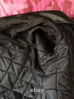 Vintage harley davidson leather motorcycle jacket