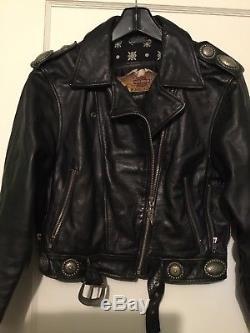 Vintage harley davidson womens leather jacket