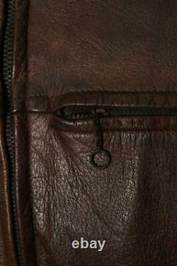 Vtg 1940s GOATSKIN Half Belt Sports Motorcycle Leather Jacket Small