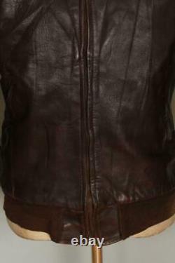Vtg 1940s HERCULES Sears HORSEHIDE Leather Flight Motorcycle Jacket S/M