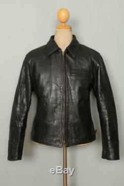 Vtg 1940s HERCULES Sears HORSEHIDE Leather Sports Motorcycle Jacket Medium