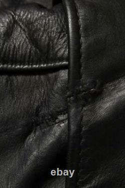 Vtg 1950s BUCO D-Pocket Steerhide Leather Motorcycle Jacket 40/42