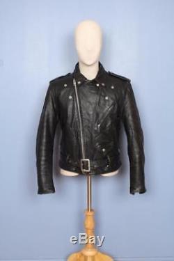 Vtg 1970s SCHOTT PERFECTO 618 STEERHIDE Leather Motorcycle Biker Jacket S/M