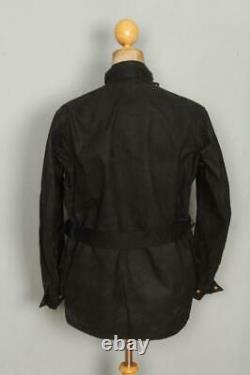 Vtg 1978 BARBOUR International Suit NATO Gold Label WAXED Jacket Medium