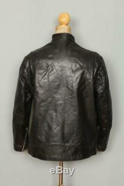 Vtg 50s BRIMACO British Cycle Leathers Cafe Racer Motorcycle Jacket Small