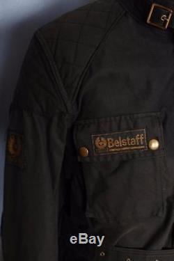 Vtg 60s BELSTAFF Trialmaster Professional Motorcycle WAXED Jacket Medium