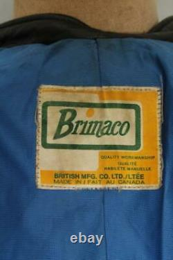 Vtg 60s BRIMACO British Cycle Leathers Cafe Racer Motorcycle Jacket XS