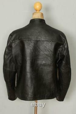Vtg 60s HARLEY DAVIDSON Sportster Cafe Racer Leather Motorcycle Jacket