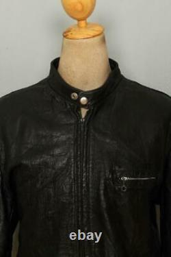 Vtg 60s HARLEY DAVIDSON Steerhide Leather Cafe Racer Motorcycle Jacket Large