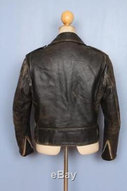 Vtg 70s SCHOTT PERFECTO'One Star' Leather Motorcycle Jacket Small/Medium
