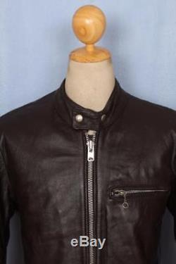 Vtg 70s VANSON ASSOCIATES Cafe Racer Leather Motorcycle Biker Jacket Medium