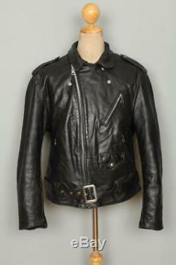 Vtg 80s SCHOTT PERFECTO 618/118 Leather Motorcycle Biker Jacket 42/44