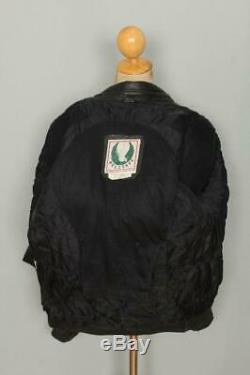Vtg BELSTAFF Padded Cafe Racer Leather Motorcycle Biker Jacket L/XL