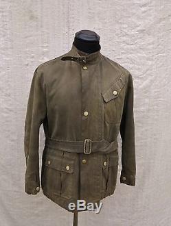 Vtg Bell Motor Coat 30's Waxed Jacket Vtg Bell Motorcycle Jacket Vtg Waxed Suit