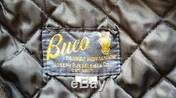Vtg Buco Joseph Buegeleisen J-100 Style King Horsehide Leather Jacket Sz 38 Nr
