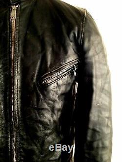 Vtg Leather 1950's SCHOTT PERFECTO CAFE RACER Motorcycle Biker Bike Jacket Coat