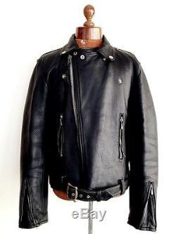Vtg Mens 1964 AVIAKIT LEWIS LEATHERS Motorcycle Biker Cafe Racer Jacket Coat M/L