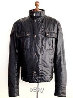 Vtg Mens BELSTAFF BLACK PRINCE Waxed Wax Motorcycle Biker Cafe Racer Jacket Coat