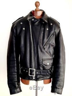 Vtg Mens Leather SCHOTT PERFECTO BRANDO Motorcycle Biker Cafe Racer Jacket Coat