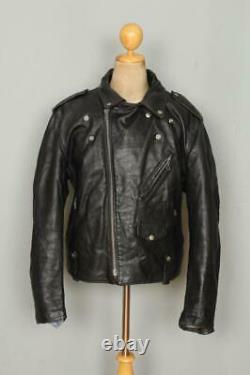 Vtg SCHOTT PERFECTO 125 Leather Motorcycle Jacket Size 46