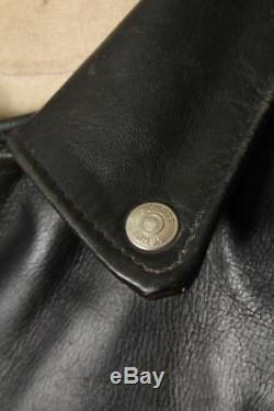Vtg SCHOTT PERFECTO Black Leather Motorcycle Jacket Size XLarge