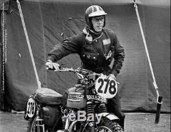 Vvintage Barbour Beacon Wax Motorcycle Jacket Steve Mcqueen Style Very Rare