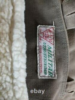 WW2 Army Military Sheepskin Parka M1909 Mats Larsson Shearling Coat Jacket