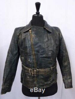 WW2 Leather German Luftwaffe Jacket 40R LD288