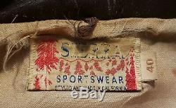 WWII WW2 Private Purchase A2 Flight Motorcycle Jacket Sierra Sportswear Named