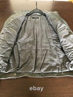 Wilson Leather Black Rivet Grey leather Mens Jacket M, used twice