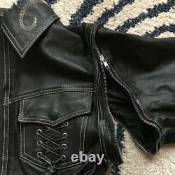 Women's Harley Davidson Combo Leather Riding Coat Jacket Medium