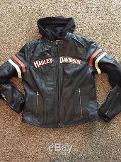 Women's Leather Harley Davidson Jacket Large