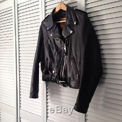 Women's Schott Perfecto Black Lambskin Leather Jacket Medium RUNS SMALL