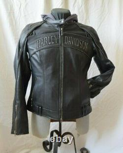 Women's Willie G Skull Reflective Harley Davidson Jacket with Hoodie