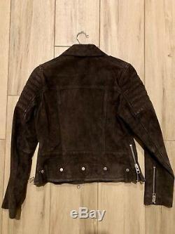 Womens All Saints Huxley Leather Jacket Size 4