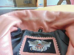 Womens Harley Davidson Pink Label Leather Riding Jacket SMALL