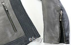 Womens harley davidson leather jacket S Shadow Crest black gray reflective bar